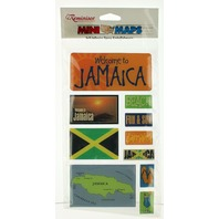 Welcome To Jamaica Self Adhesive Epoxy Embellishments Stickers
