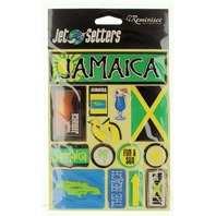 Jet Setters Jamaica 3-D Embellishments Travel Stickers