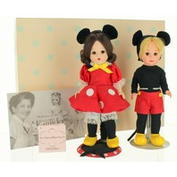 """Madame Alexander 31641 Mickey Mouse and Minnie Set New 8"""" Doll Collectable"""