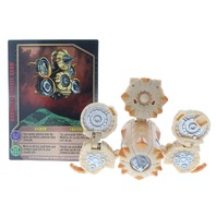 Bakugan Battle Brawlers Subterra Tan Lashor Rare Silver Markings with card