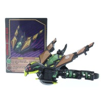 Bakugan Battle Brawlers Airkor and Darkus Luxtor with Card