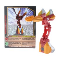 Bakugan Battle Brawlers Beam Blitzer Red Gold Guardian Invaders DNA 120g w/ Card
