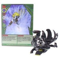 Bakugan Battle Brawlers Lunagrowl Black Darkus Gundalian DNA 700G with Card