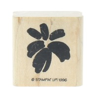 Stamping Up Flower Burst Water Color Wooden Rubber Stamp