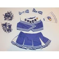 Build a Bear Outfit Set Cheer Leader Skirt Top Pom Poms Bows Lot