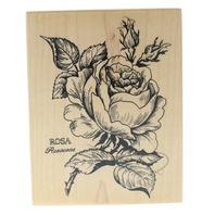 PSX Rose Rosaceae Flower Bloom K-023 Wooden Rubber Stamp