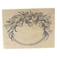 PSX Rose Wild Flower Oval Rose Tulip Frame K-413 Wooden Rubber Stamp
