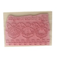 Stamps Happen Inc. We Believe in Angels Wooden Rubber Stamp