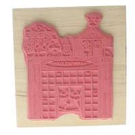 Finder's Keepers Happy Holidays Santa stuck in the Hearth Wooden Rubber Stamp