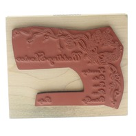 Inkadinkado Wedding Shower Invitation with RSVP  Wooden Rubber Stamp