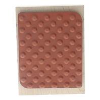 All Night Media Dot Patttern Wooden Rubber Stamp
