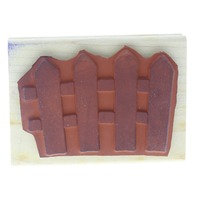 Stampin Up Bold Picket Fence 2001 Wooden Rubber Stamp