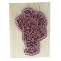 Holiday Santa Claus Mail US Mail Packages Wooden Rubber Stamp