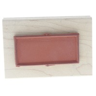 Limited Edition 1997 Mini Card and Envelope Two Sided Wooden Rubber Stamp