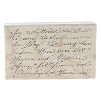Impression Obsession Joy to the World Lyrics Romantic Holiday Wooden Rubber Stamp