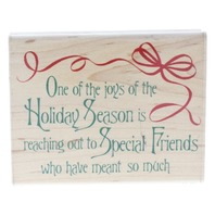 Stampabilities Joys of the Holiday Season Special Friends Wooden Rubber Stamp
