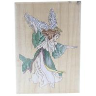Stamps Happen Dancing Angel 80056 Wooden Rubber Stamp