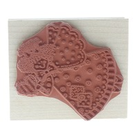 Hero Arts Patchworkk Angel with a Heart Flying Wooden Rubber Stamp