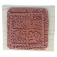 Rubber Stampede A Time for Everything Tree Seasons Wooden Rubber Stamp