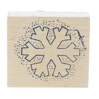 Simply Designs Snow Snowflake design Wooden Rubber Stamp