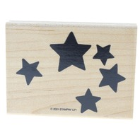 Stamping Up Bold Star Cluster Constellation Wooden Rubber Stamp