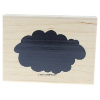 Stamping Up Bold Cumulonimbus Cloud  Wooden Rubber Stamp