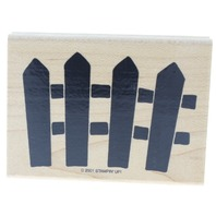 Stamping Up Bold Picket Fence Wooden Rubber Stamp