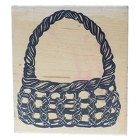 Posh Limited Flower Easter Willow Basket XL Wooden Rubber Stamp