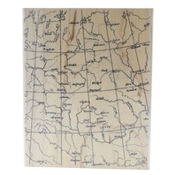 Hero Arts Map Xl Background Wooden Rubber Stamp