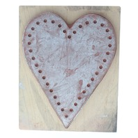 Romantic Wedding Stitchable Pocket Love Heart PSX  Wooden Rubber Stamp