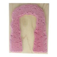 Artistic Stamp Exchange Rose Garden Arch Trellis  Wooden Rubber Stamp