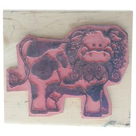 JRL Design Buttercup the Spotted Moo Cow Wooden Rubber Stamp