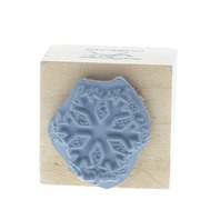 Simply Designs Snow Flake Design Wooden Rubber Stamp