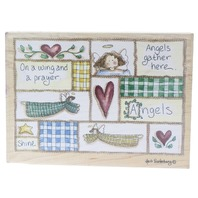 Prayer Angels Gather Here Stamps Happen Heidi Satterberg Wooden Rubber Stamp