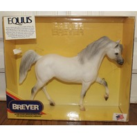 NIB New Retired Breyer Horse #983 Equus Arabian Racehorse White Stallion