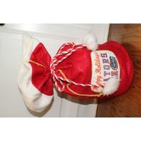 Happy Holidays Florida Gators Fan Santa Drawstring Holiday Gift Sack Bag