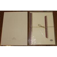 Hallmark Stationary Desk Set of 32 Sheets 17 Envelopes Crown Collection Foil