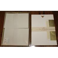Hallmark Stationary Desk Set of 20 Sheets 21 Envelopes Foil Bumble Bee
