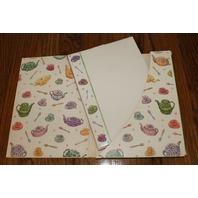 Hallmark Stationary Desk Set of 32 Sheets 16 Envelopes Tea Party