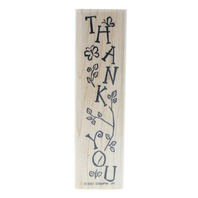 Stampin Up Thank You Vine and Butterfly 2001 Wooden Rubber Stamp