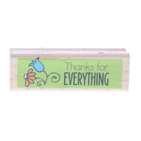 Studio G Thanks for Everything Wooden Rubber Stamp