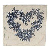 PSX Romantic Rose Vine Heart G-553 Wooden Rubber Stamp