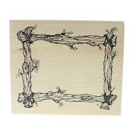 DJ Inkers Wood Log Frame S08 Wooden Rubber Stamp