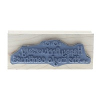 Art Impressions Happy Anniversary the Magic continues Wooden Rubber Stamp