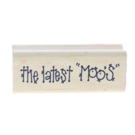 """Hooks Lines and Inkers The Latest """"Moos"""" Wooden Rubber Stamp"""