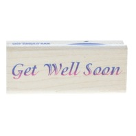 Get Well Soon, Stampabilities 1999 Words Writing Wooden Rubber Stamp