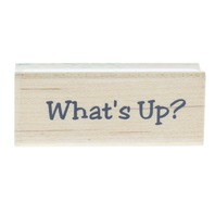 Stampa Rosa What's Up? Penguin Parade 1999 Words Writing Wooden Rubber Stamp