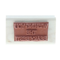 Wishing You the Beary Best Stampin UP 1999 Words Writing Wooden Rubber Stamp