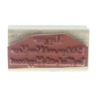 Stampin Up 2002 May Your Holidays and New Year be Happy  Wooden Rubber Stamp