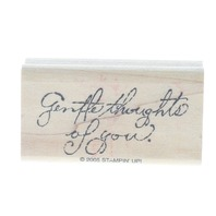 Stampin UP 2005 Gentile Thoughts of You Wooden Rubber Stamp